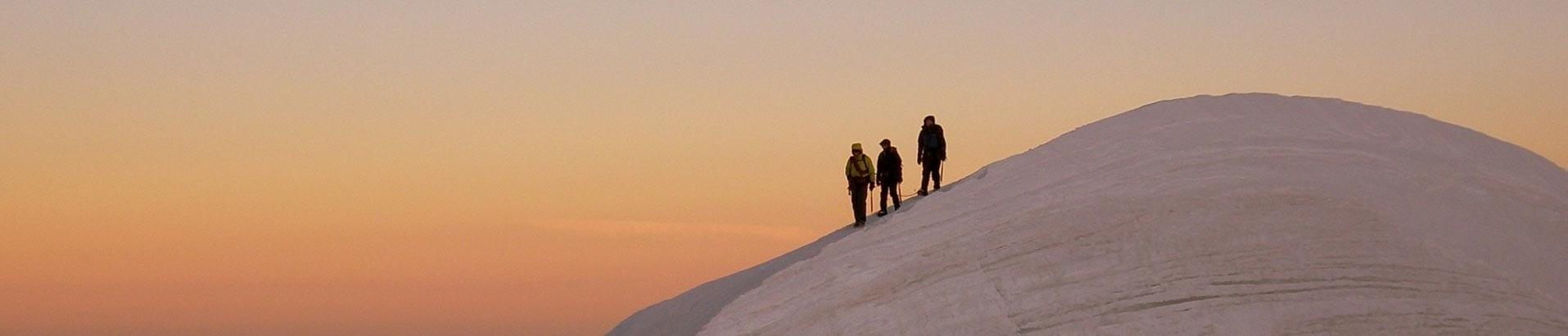 """Фотография альпинистов для раздела """"Восхождения"""" на мобильных устройствах"""